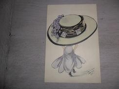 Illustrateur  Xavier  Sager  Salt Lake  1909  - Grand Chapeau  Grote Hoed - Sager, Xavier