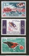 New Hebrides N° 242-244 (3v) Série Courante 1966 - Ongebruikt
