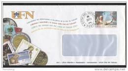 VATICANO 2011 - Busta Postale Da 2 Euro Usata - Postwaardestukken