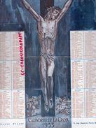 75- PARIS- GRAND CALENDRIER DE LA CROIX-BONNE PRESSE 5 RUE BAYARD- 1953- CHRIST EN CROIX -RELIGION CHRISTIANISME-JESUS - Calendarios