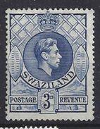 Swaziland 1938 KG VI  3d (*) MH - Swaziland (...-1967)