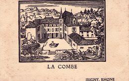00 - MENU - 1957 - LA COMBE à IRIGNY - DESSIN - Menus