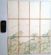 Zeer Oude Militaire STAFKAART 14/3 Situatie 1869 LANGELEDE OVERSLAG MOERBEKE-POLDER WACHTEBEKE KAART S804 - Wachtebeke