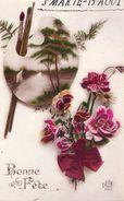 00 - BONNE FETE - Bouquet De Fleurs Et Palette Avec Pinceaux - DEDE 883 - Non Classés