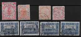 CHINA IMPERIAL AND LOCAL POST SHANGHAI → 8 Different Interesting Stamps - China