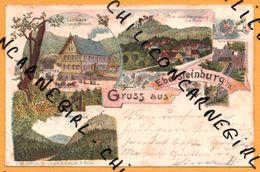 Litho - Gruss Aus Ebersteinburg I/b. - Merkurius - Ruines - LUTGERT & SCHMIDT - 1900 - Oblit. GASTHAUS Z. HIRSCH FRITZ - Unclassified