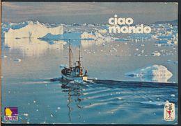 °°° GF341 - GREENLAND GROENLANDIA - PESCHERECCHIO NAVIGA TRA GLI ICEBERG DELLA BAIA DISKO °°° - Groenlandia