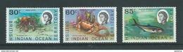 BIOT 1970 Later Issue Fish Definitives 30c / 60c / 85c MNH - British Indian Ocean Territory (BIOT)