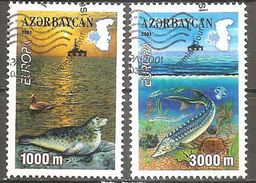 Aserbaidschan Azerbaijan Azerbaidjan Azerbaycan 2001 Michel 494-95A Used Cancelled Oblitéré Gestempelt Oo - 2001