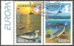 Aserbaidschan Azerbaijan Azerbaidjan Azerbaycan 2001 Michel 494-95D Ex Booklet Carnet Used Cancelled Oblitéré Gestempelt - 2001