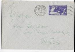 STORIA POSTALE REGNO - DECENNALE CENT 50 ISOLATO SU BUSTA DA BOLOGNA 15.09.1933 PER VICENZA - 1900-44 Victor Emmanuel III