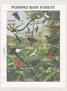 Micronesia 1991 Pohnpei Rain Forest Sheetlet MNH - Micronesia