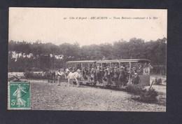 Vente Immediate Arcachon (33) Tram Belisaire Conduisant à La Mer ( Animée Tramway Hippomobile Train Phot. Leo Neveu ) - Arcachon
