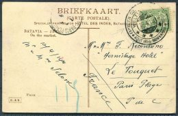 1914 Netherlands Colonial Exposition Colonniale Hotel Des Indes, Batavia Market Postcard - Hermitage Hotel, Le Touquet - Netherlands Indies