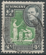 St Vincent. 1949-52 KGVI. New Currency. 4c Green And Black Used. SG 167 - St.Vincent (...-1979)
