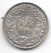 *switzerland 1/2 Franc 1940   Km 23  Xf+ - Suisse