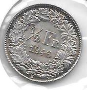 *switzerland 1/2 Franc 1946   Km 23  Unc - Suisse