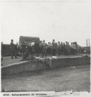 Photo Stéréoscopique Guerre 14-18 War WW1 / 2816 Embarquement De Troupes - Riproduzioni