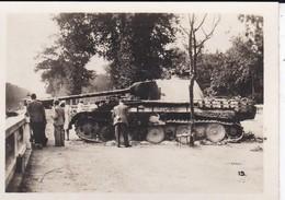 MINI PHOTO--PARIS---Chars TIGRE Dans Les TUILLERIES--libération 1944 Armistice-voir 2 Scans - Photography