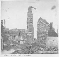 Photo Stéréoscopique Guerre 14-18 War WW1 / 2880 La Basilique D' Albert - Riproduzioni