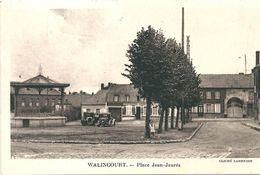 59: WALINCOURT La Place Jean Jaures Animee Cliche Lamendin Rare - Frankrijk