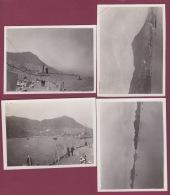 301017 - 4 PHOTOS ANNÉES 1930 - ASIE - à Situer Bateau Marin - Cartes Postales