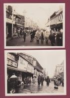 301017 - 4 PHOTOS ANNÉES 1930 - ASIE - à Situer - Bateau Marin Rue Kimono - Cartes Postales