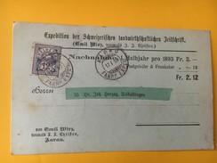 5602 - Carte Remboursement Aarau 17.01.1898 Pour Tagerweiler - Lettres & Documents