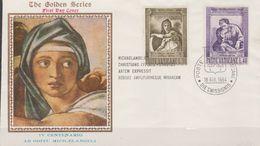 VATICAN  1964  Oblitéré  Enveloppe  Michelange - Oblitérés