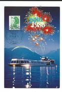 CPM  74 Annecy Centenaire De La Compagnie Des Bateaux 1986 Neuve TBE Au Dos Tampon - Annecy