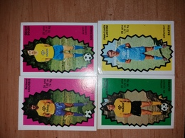 FOOT STICKERS NON AUTOCOLLANT D'ORIGINE - AGEducatifs Football 1976/1977 - LOT 4 IMAGES - VOIR DESCRIPTION - Vignettes Autocollantes