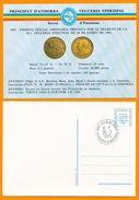 Andorra Viguerie Andorre 1983 Carte Postale 1 Monnaie, Oblitéré Le 25-02-1985 Saint-Julia-de-Loria (agence Postale Franç - Stamps