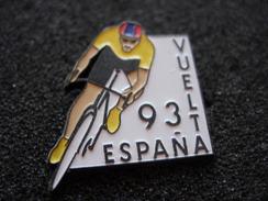 PIN'S CYCLISME ESPANA VUELTA 93 MAILLOT JAUNE SIGNE LOCO PINS - Cycling
