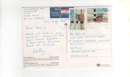 """2 Beaux Timbres , Stamps """" Phare """" Sur Carte , Postcard , 21/07/88 , Plis D'angles - Afrique Du Sud (1961-...)"""