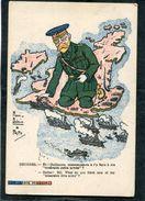 CPA - Illustration PRITT - LA CARTE FRANCAISE - GEORGES: Eh! Guillaume, Commences-tu à T'y Faire à Ma Misérable Petite A - Guerre 1914-18