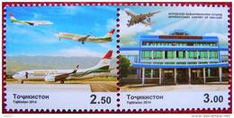 Tajikistan  2014  International Airport Of Khujand  2 V  MNH - Tadschikistan
