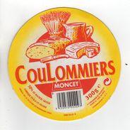 ETIQUETTE DE FROMAGE COULOMMIERS MONCET - Cheese