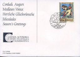 SAN MARINO -  1988 Christmas  FD1021 - FDC