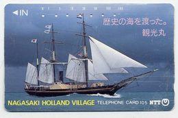 VOILIER Bateau Boat NAGASAKI HOLLAND VILLAGE Télécarte Telefonkarten Phonecard (D.129) - Bateaux