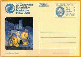 Andorra Viguerie Andorre**LUXE 1983 Aérogramme 8 Eucharistique - Timbres