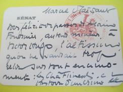 Carte  De Correspondance à En-tête Du Sénat Français/Conseil De Lecture/Marcel Plaisant /1935    CAC71 - Francia