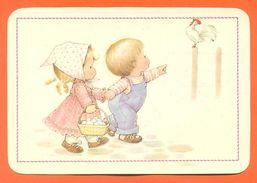 """CPM GF Illustrateur  """" Enfants Et Coq """" JCP 23 - Contemporain (à Partir De 1950)"""