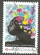 Sc # B17a Canada Post Foundation, Mental Health Puzzle, Souvenier Sheet Single Used 2011 K900 - 1952-.... Règne D'Elizabeth II