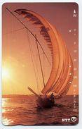 VOILIER Bateau Coucher De Soleil Boat Télécarte Telefonkarten Phonecard (D.132) - Bateaux