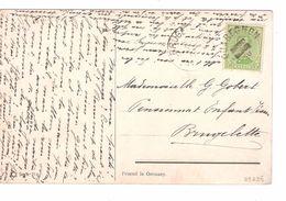 TP 137 S/CP Fantaisie C.Fortune Quaregnon En 1919 Date&mois Barrés V.Brugelette C.d'arrivée 30/4/1919 PR4840 - Fortune Cancels (1919)