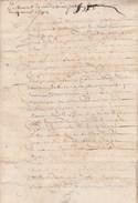 Manuscrit 7 Pages 14/4/1632 Testament Montmagnier Arnac Haute Vienne - Manuscripts
