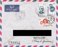 Lettre De Madagascar Pour La France. (voir Commentaires) - Covers & Documents