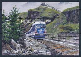 [62181] Central Africa Rep 2000 Railway Train Eisenbahn Chemin De Fer Sheet MNH - Trains