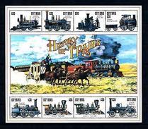 [62215] Guyana 1994 Railway Train Eisenbahn Chemin De Fer Sheet MNH - Trains