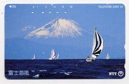VOILIER Bateau Boat Montagne Télécarte Telefonkarten Phonecard (D.134) - Bateaux